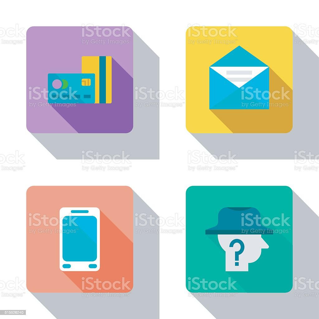 Finance and cooperation flat Icons. vector art illustration