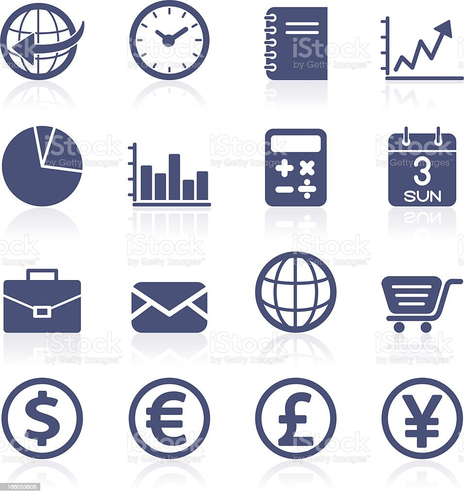 Finance and currency icon collection royalty-free stock vector art