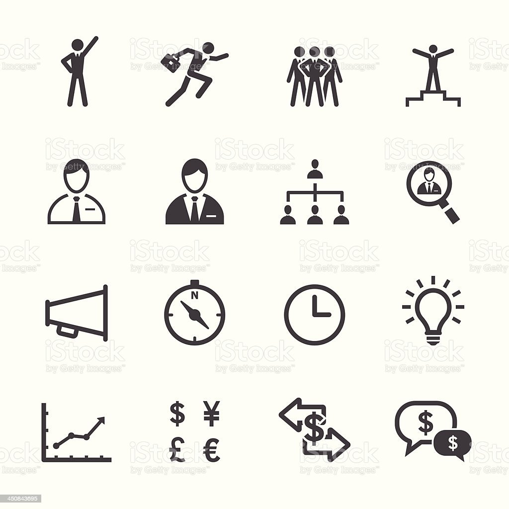 Finance and Human Resource Icons royalty-free stock vector art