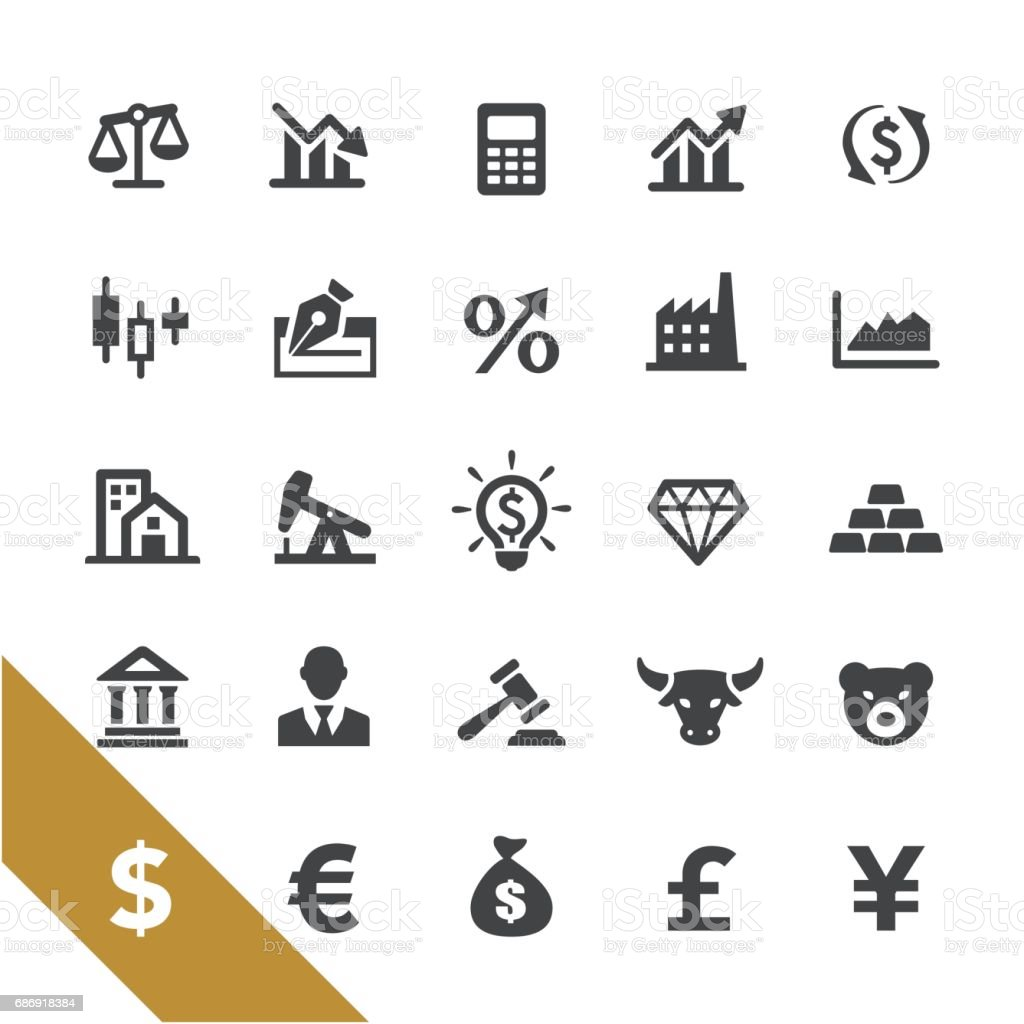 Finance and Investment Icons - Select Series vector art illustration