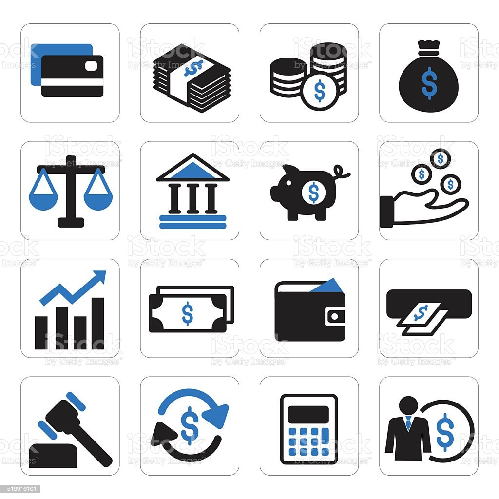 finance and money icon vector art illustration