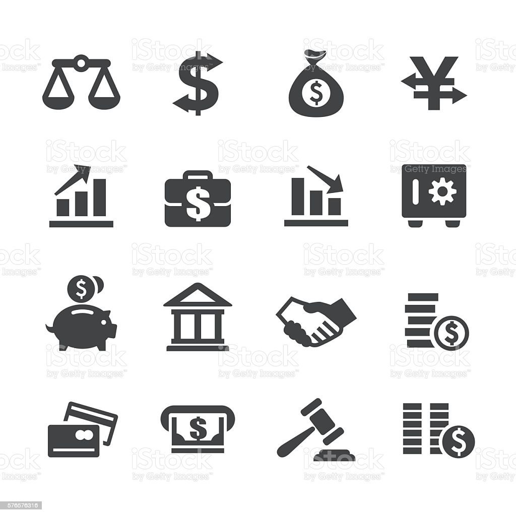 Finance and Money Icons - Acme Series vector art illustration