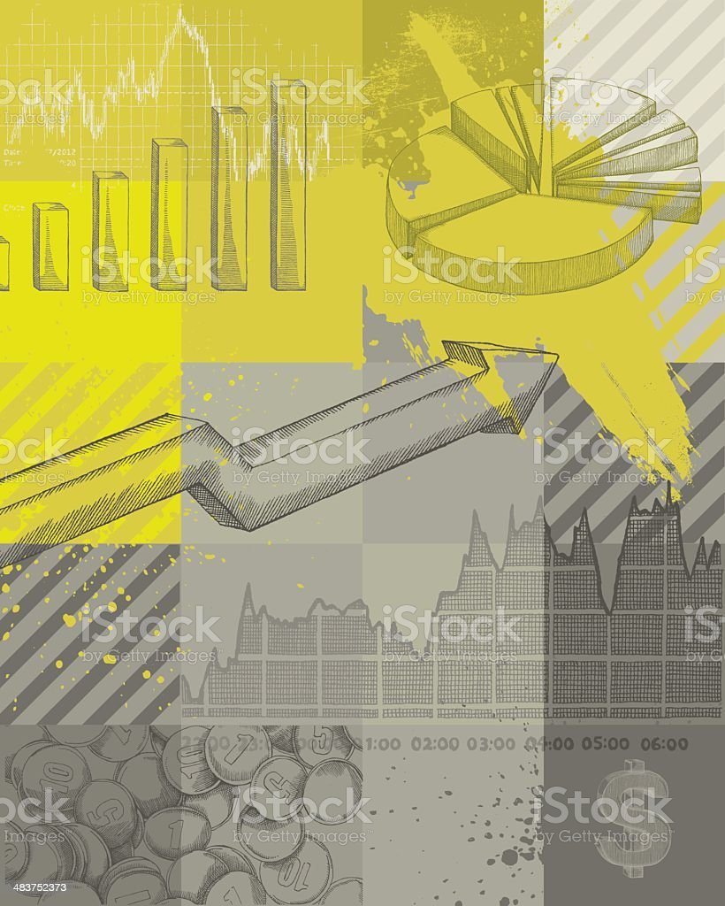 Finance Backgroud vector art illustration