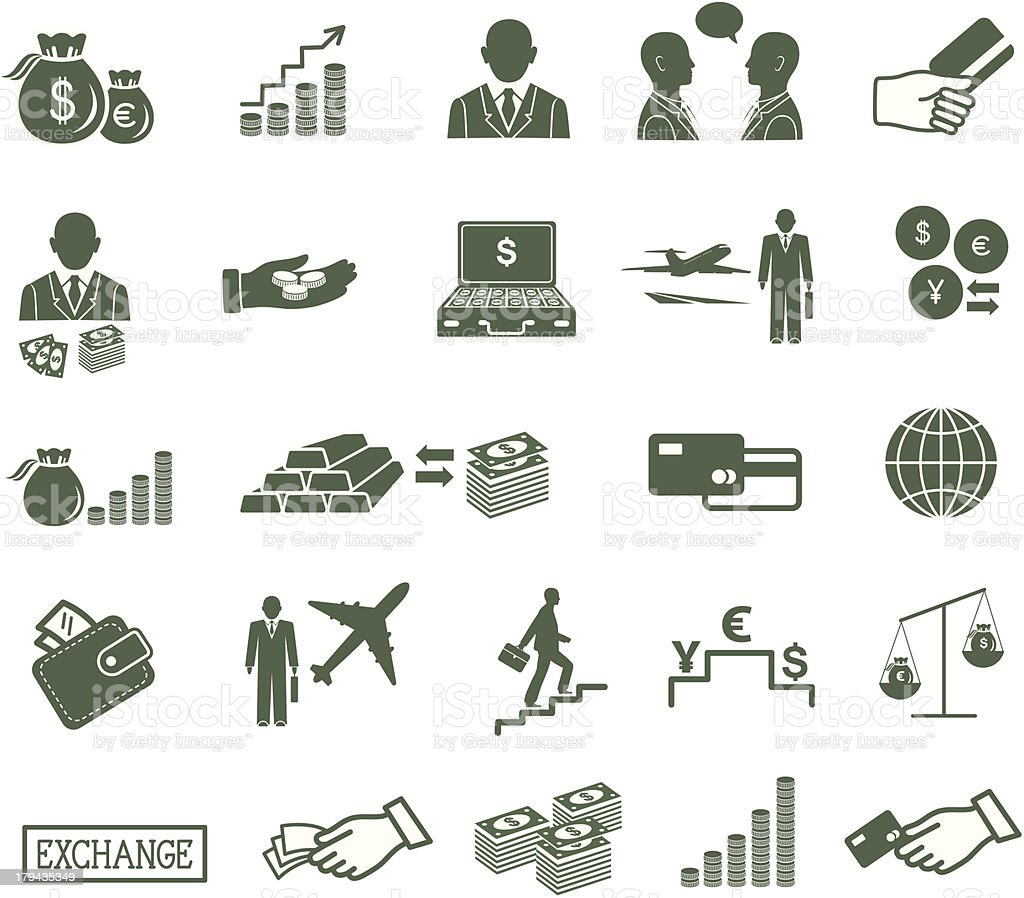 Finance , banking & business icons set. royalty-free stock vector art