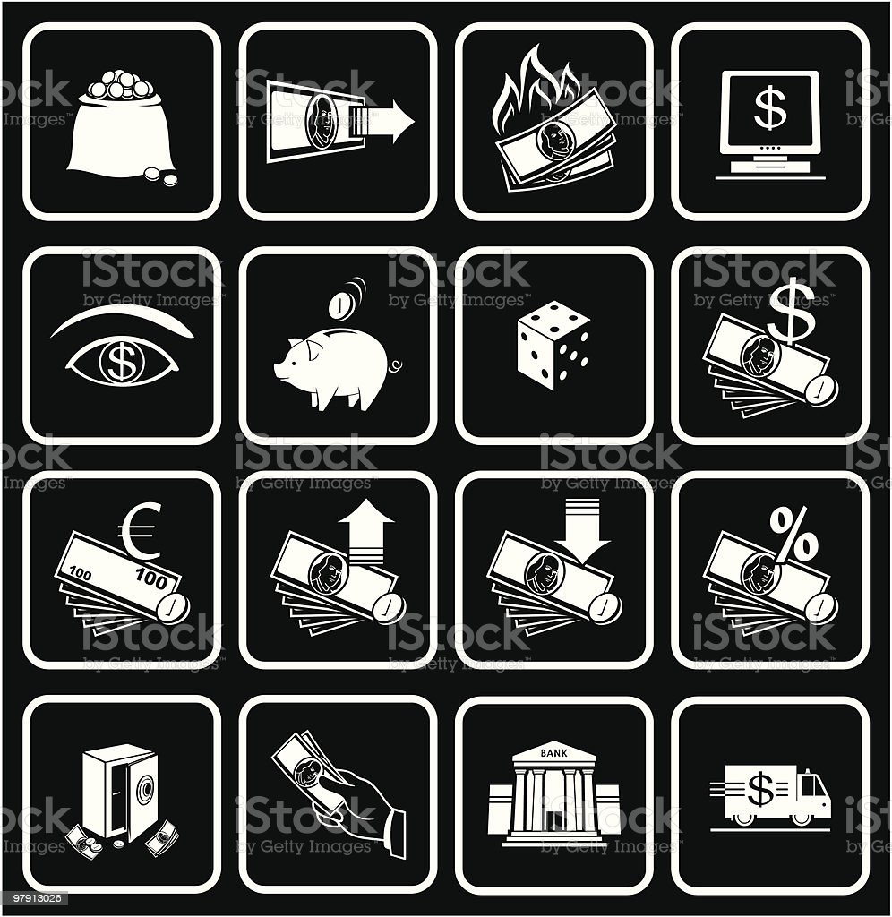 Finance, Banking Icons 01 royalty-free stock vector art