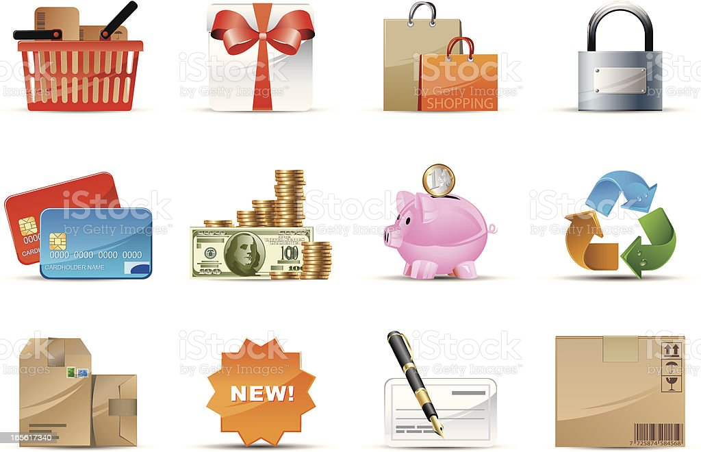 Finance & Business icons royalty-free stock vector art