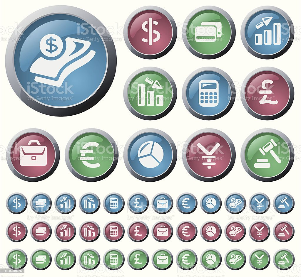 Finance buttons royalty-free stock vector art