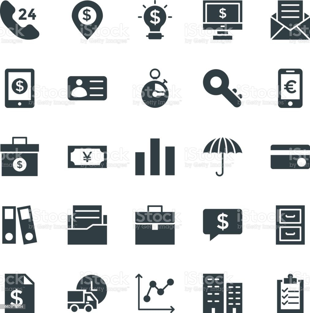 Finance Cool Vector Icons 3 vector art illustration