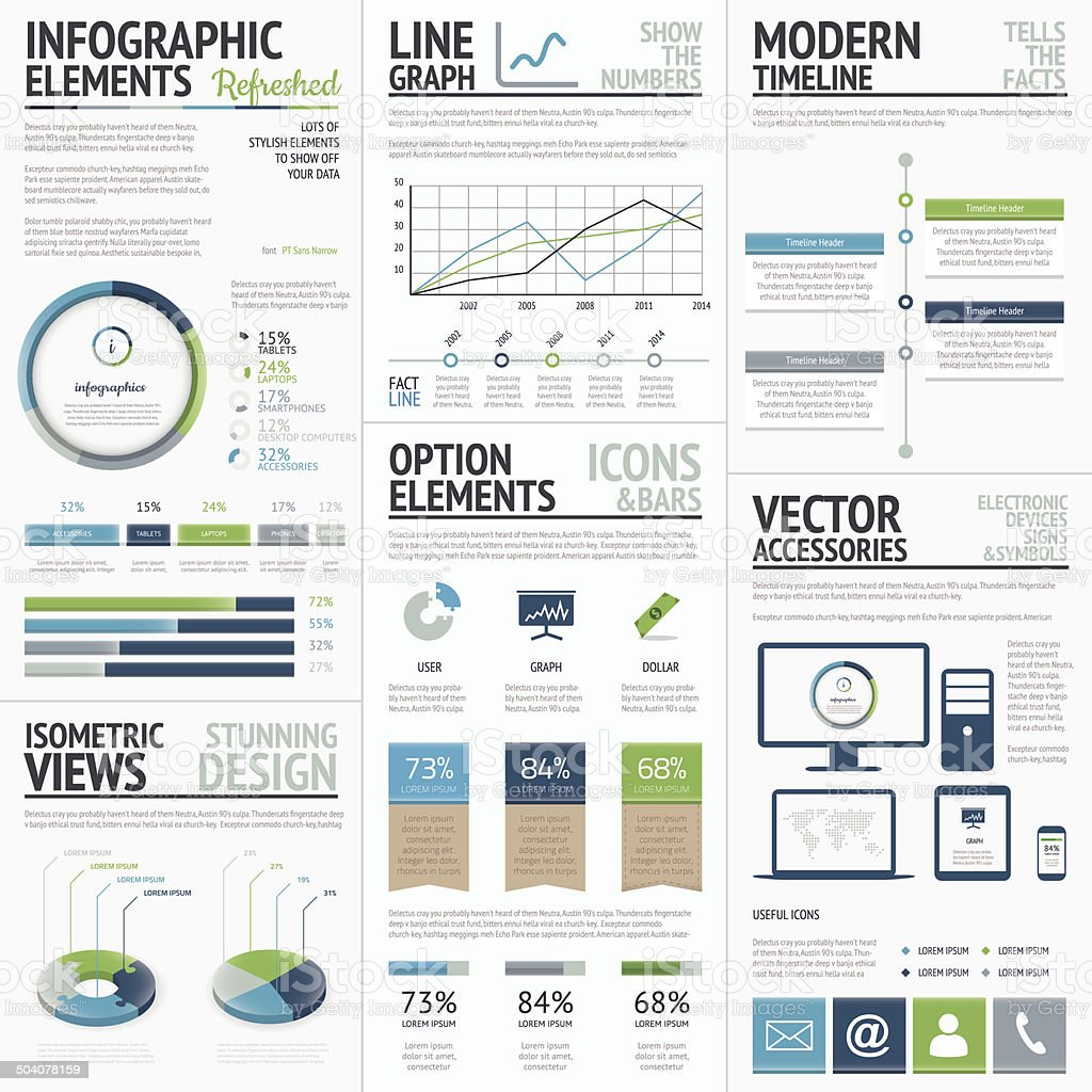 Finance, economy and business vector infographic elements vector art illustration