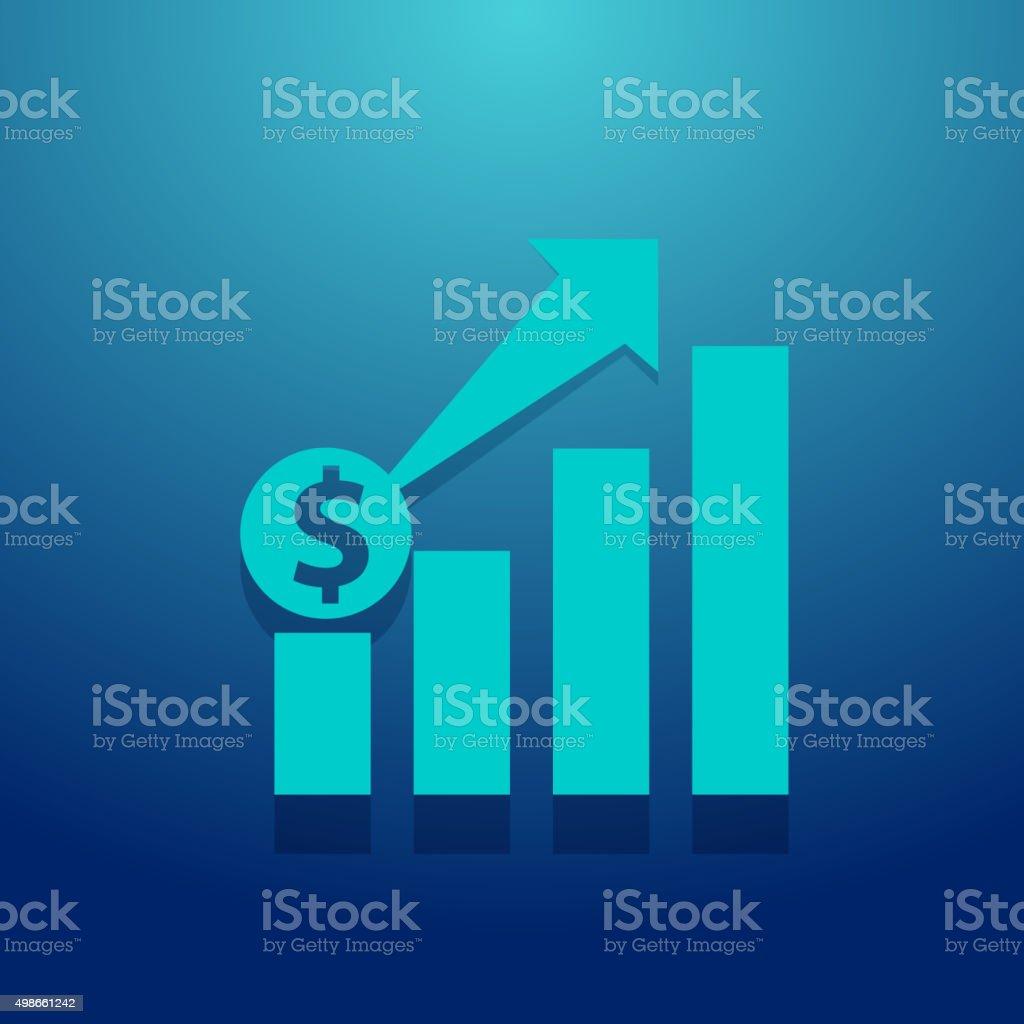Finance Growth Icon vector art illustration