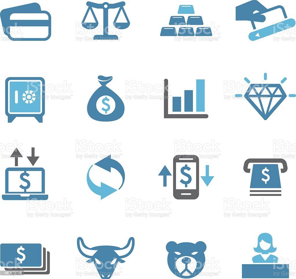 Finance Icon - Conc Series vector art illustration