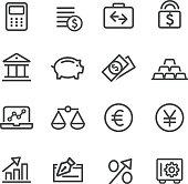 Finance Icon Set - Line Series