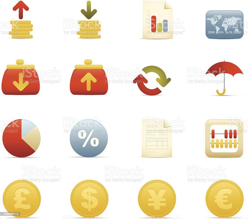 Finance Icon Set. Matt series royalty-free stock vector art