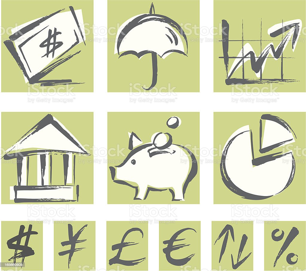 Finance Icon Set royalty-free stock vector art