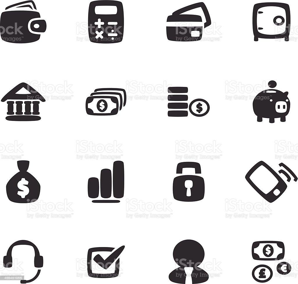 Finance Icon Set royalty-free stock vector art