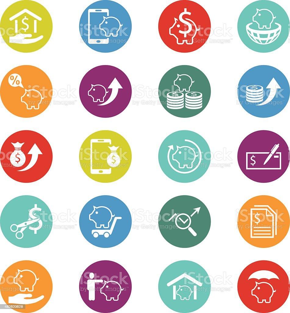 Finance icon set,vector vector art illustration