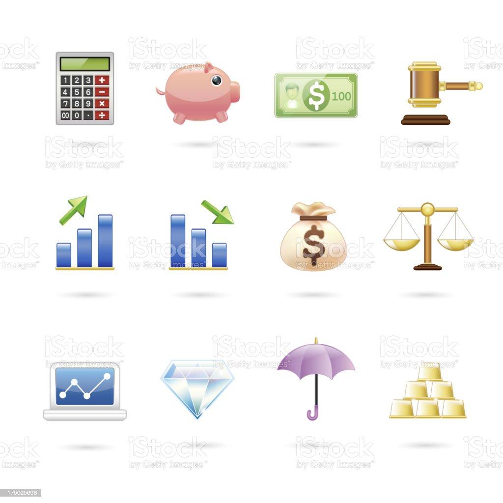 finance icon. royalty-free stock vector art