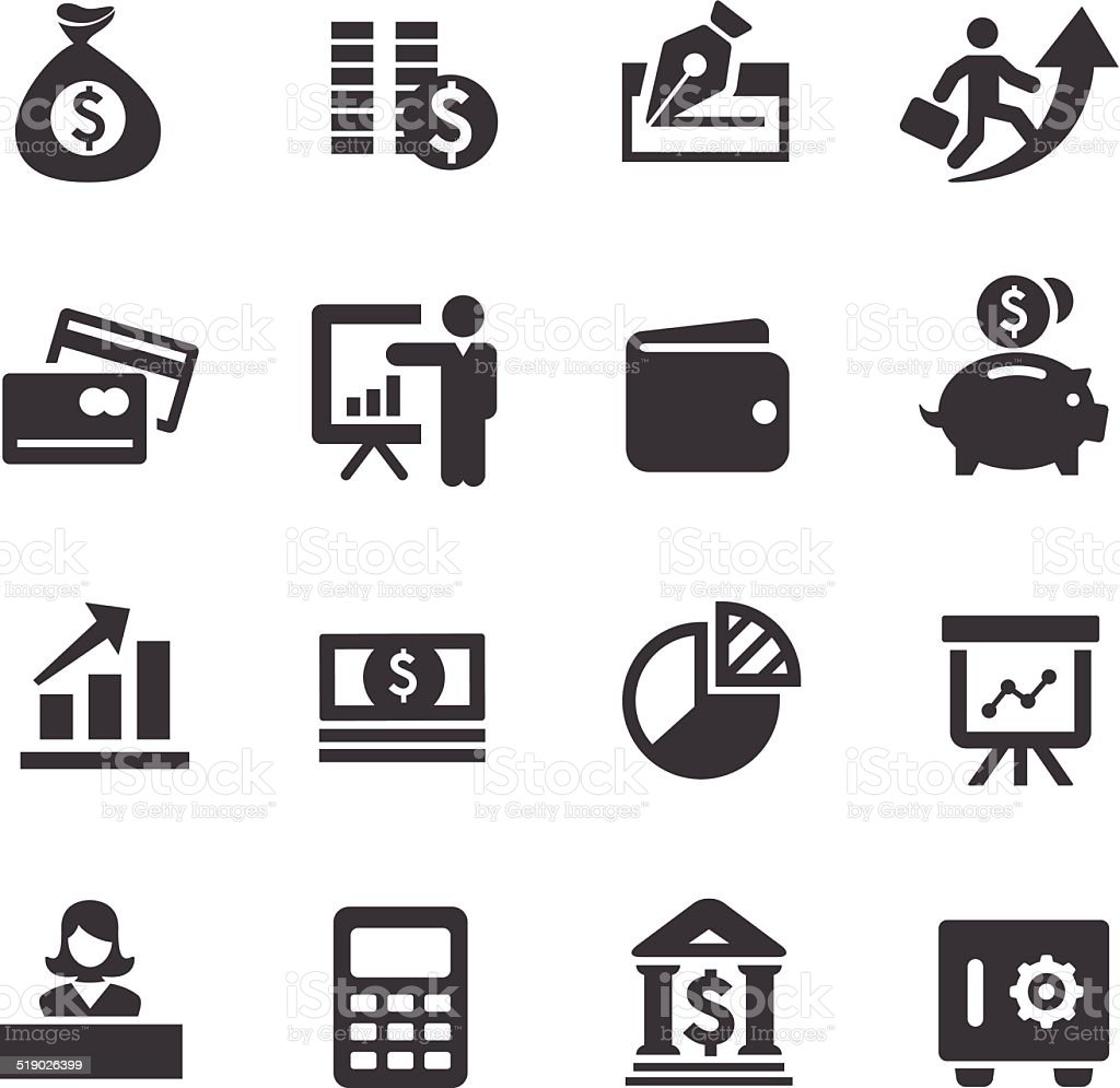 Finance Icons - Acme Series vector art illustration
