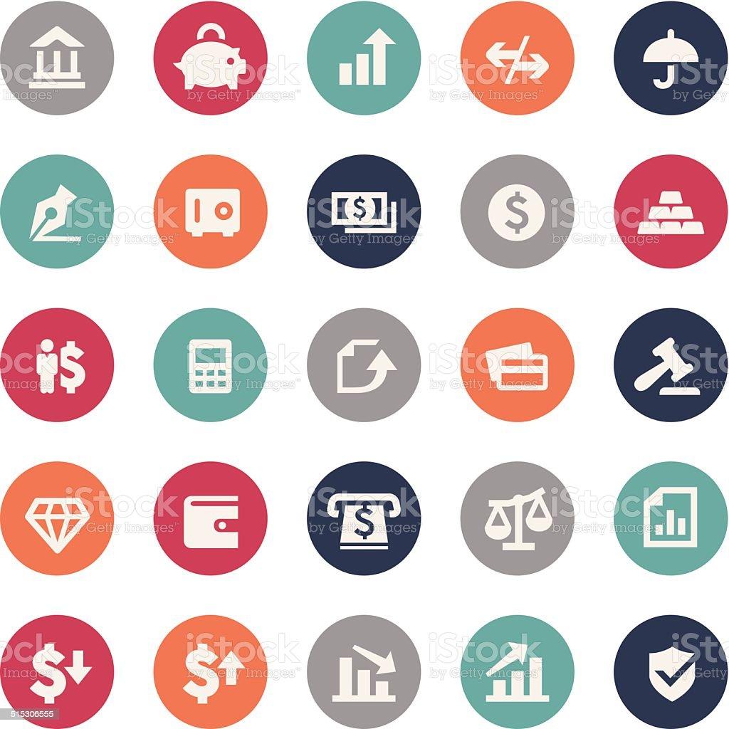 Finance Icons - Bijou Series vector art illustration