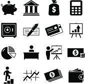 Finance Icons - Black Series
