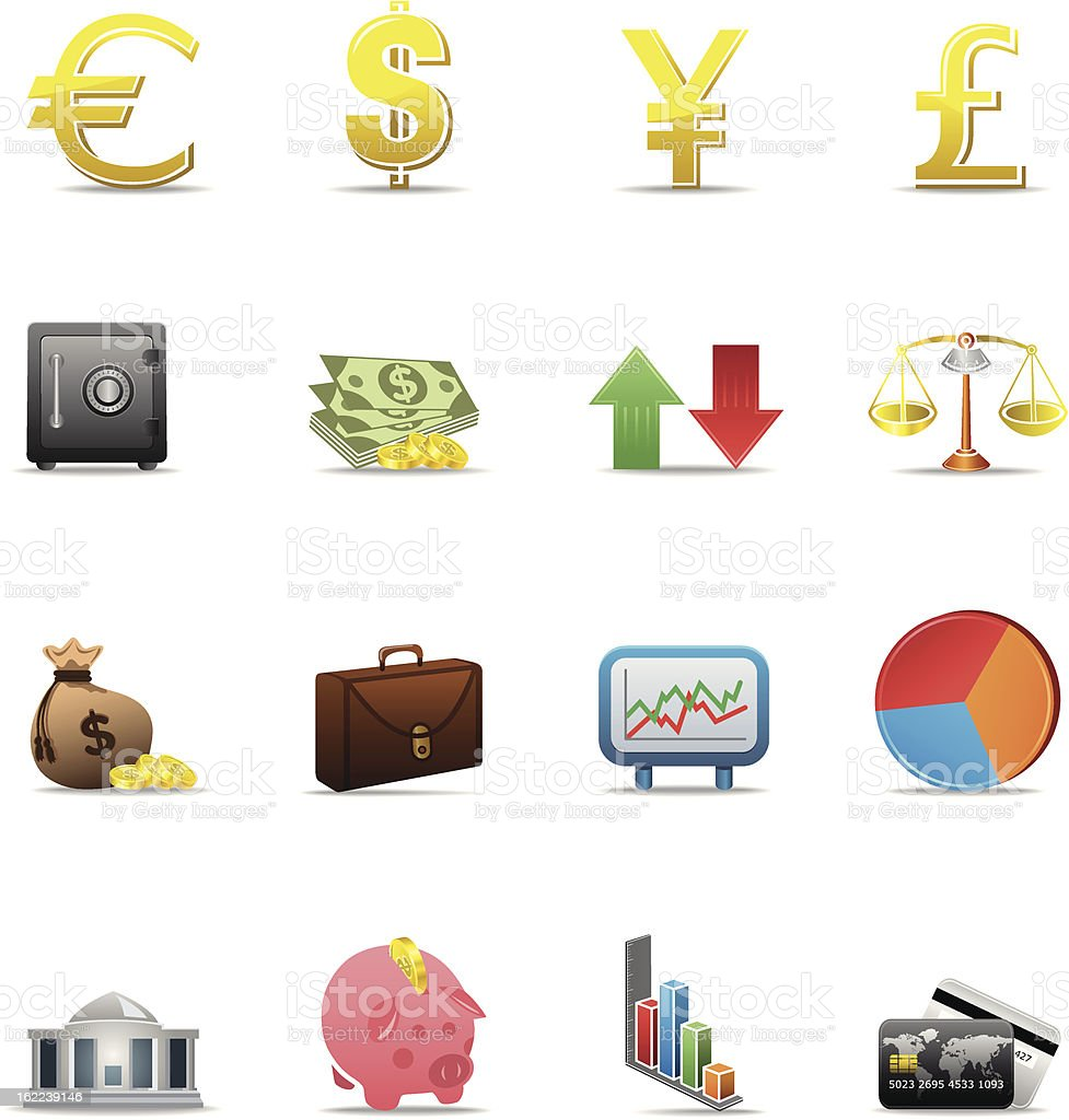 Finance Icons - Color Series royalty-free stock vector art
