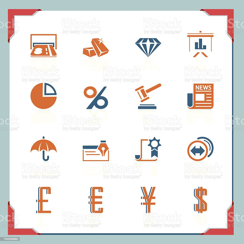 Finance icons | In a frame series royalty-free stock vector art