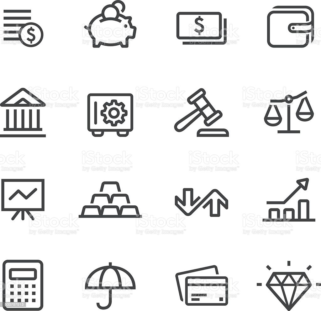 Finance Icons - Line Series vector art illustration