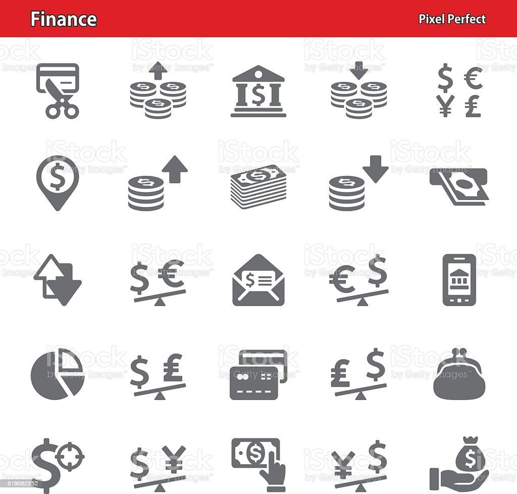 Finance Icons - Set 1 vector art illustration
