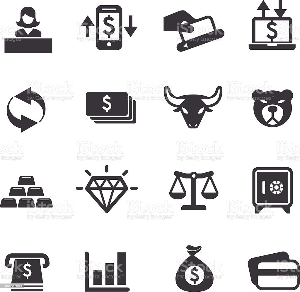 Finance Icons Set 2-Acme Series vector art illustration
