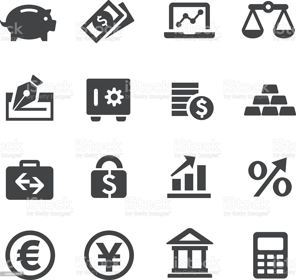 Finance Icons Set - Acme Series vector art illustration