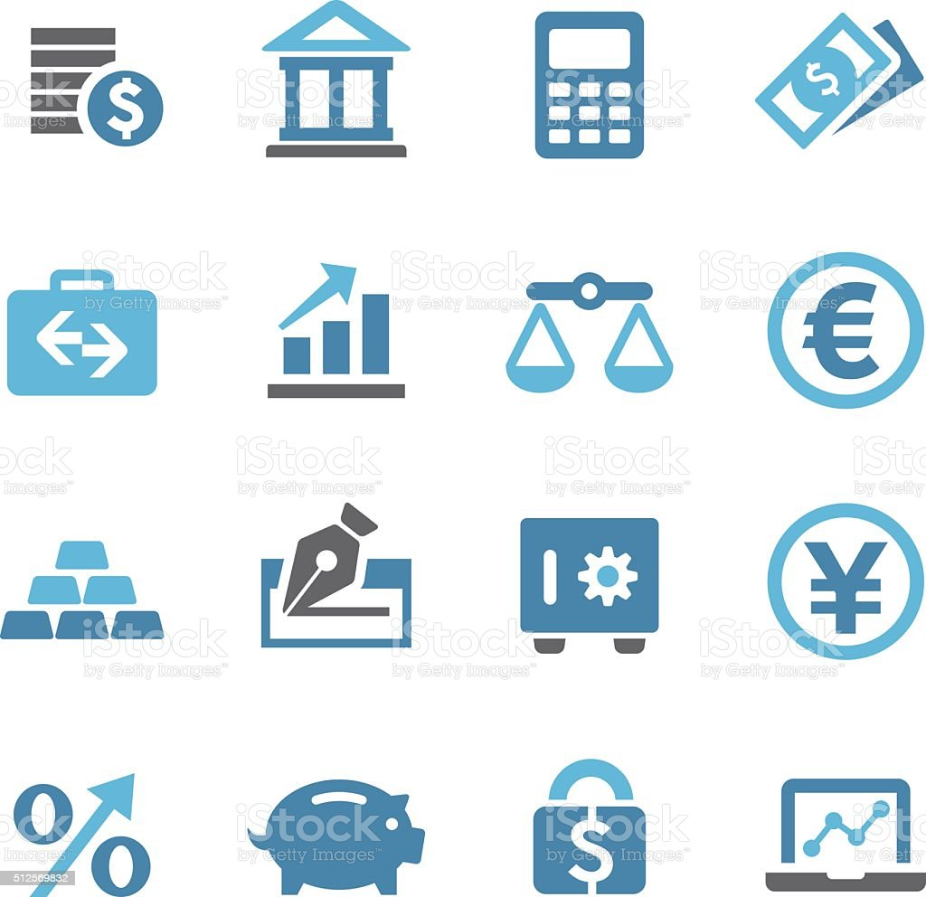 Finance Icons Set - Conc Series vector art illustration