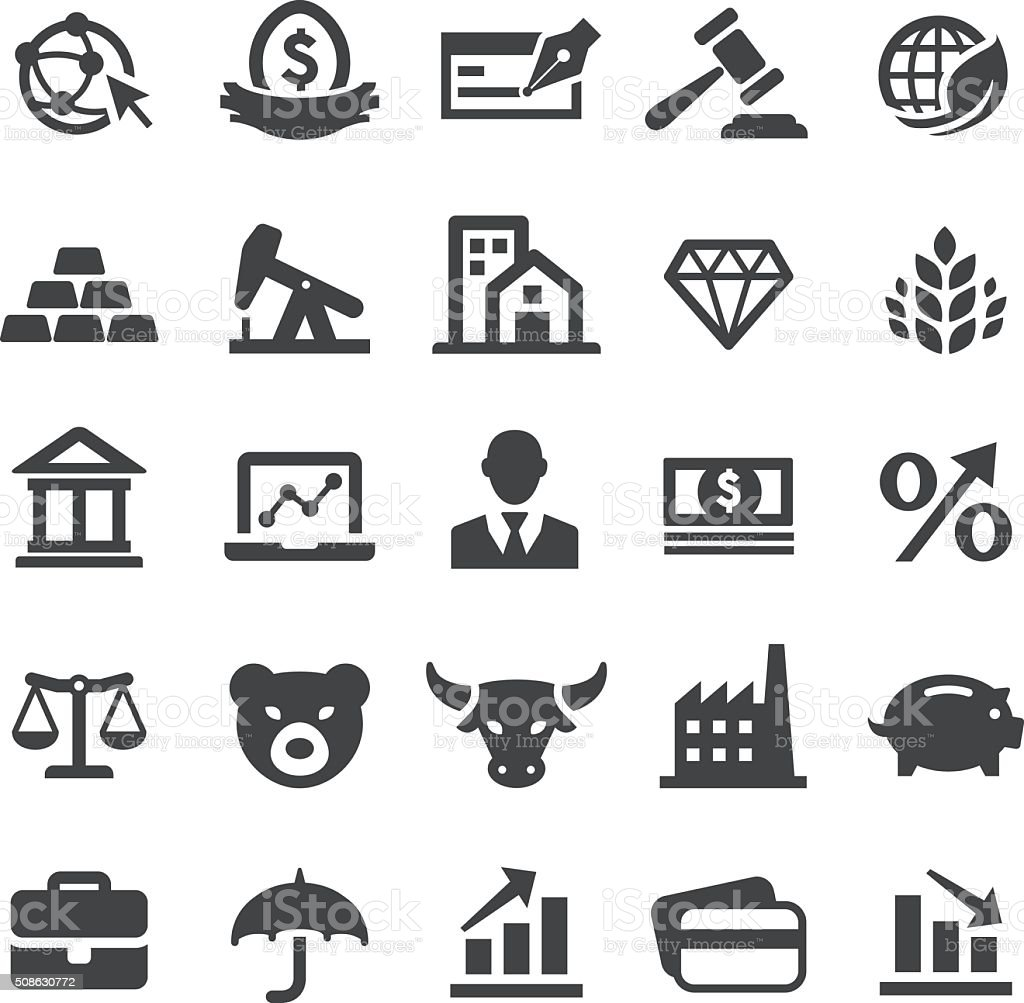 Finance Icons Set - Smart Series vector art illustration