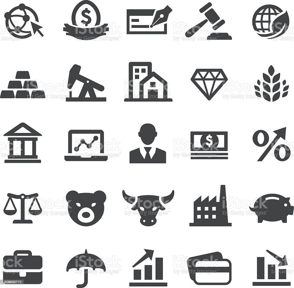 Finance Icons Set - Smart Series vector art illustration