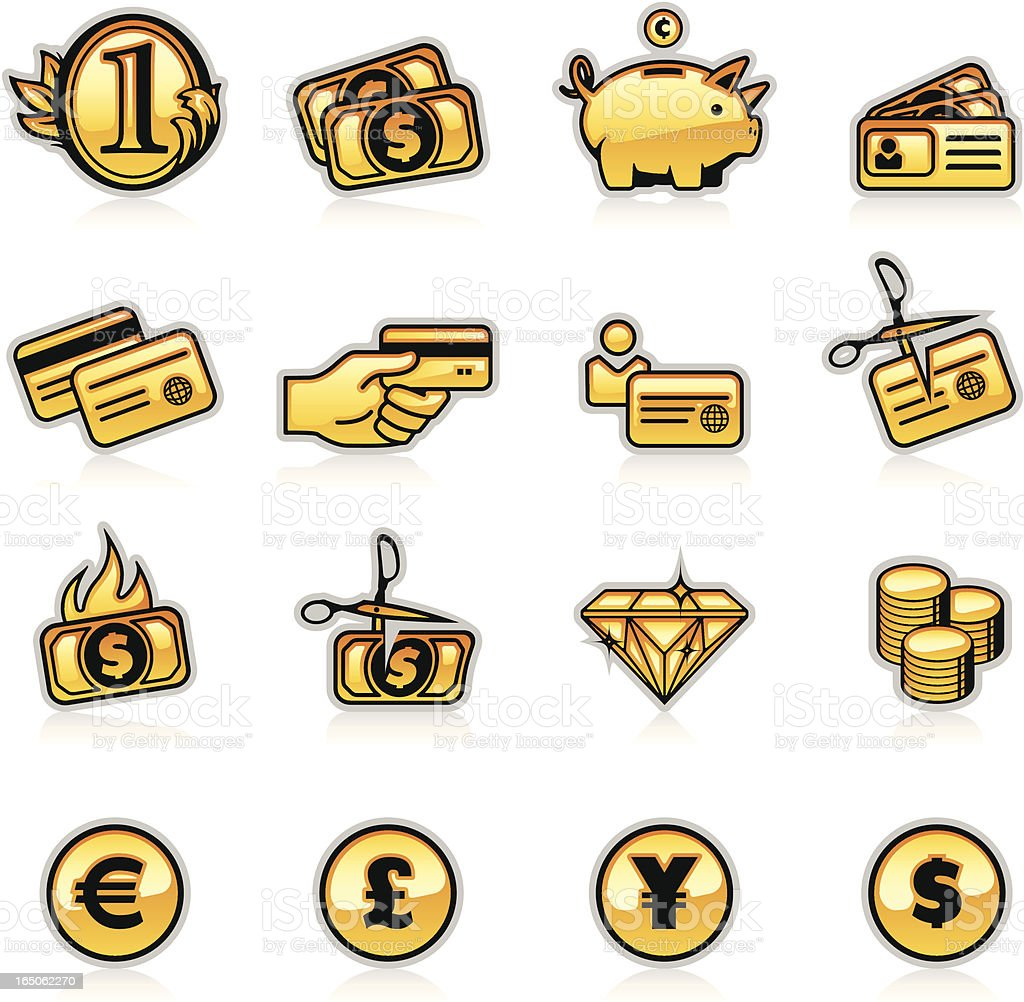 Finance Icons Two - Orange royalty-free stock vector art
