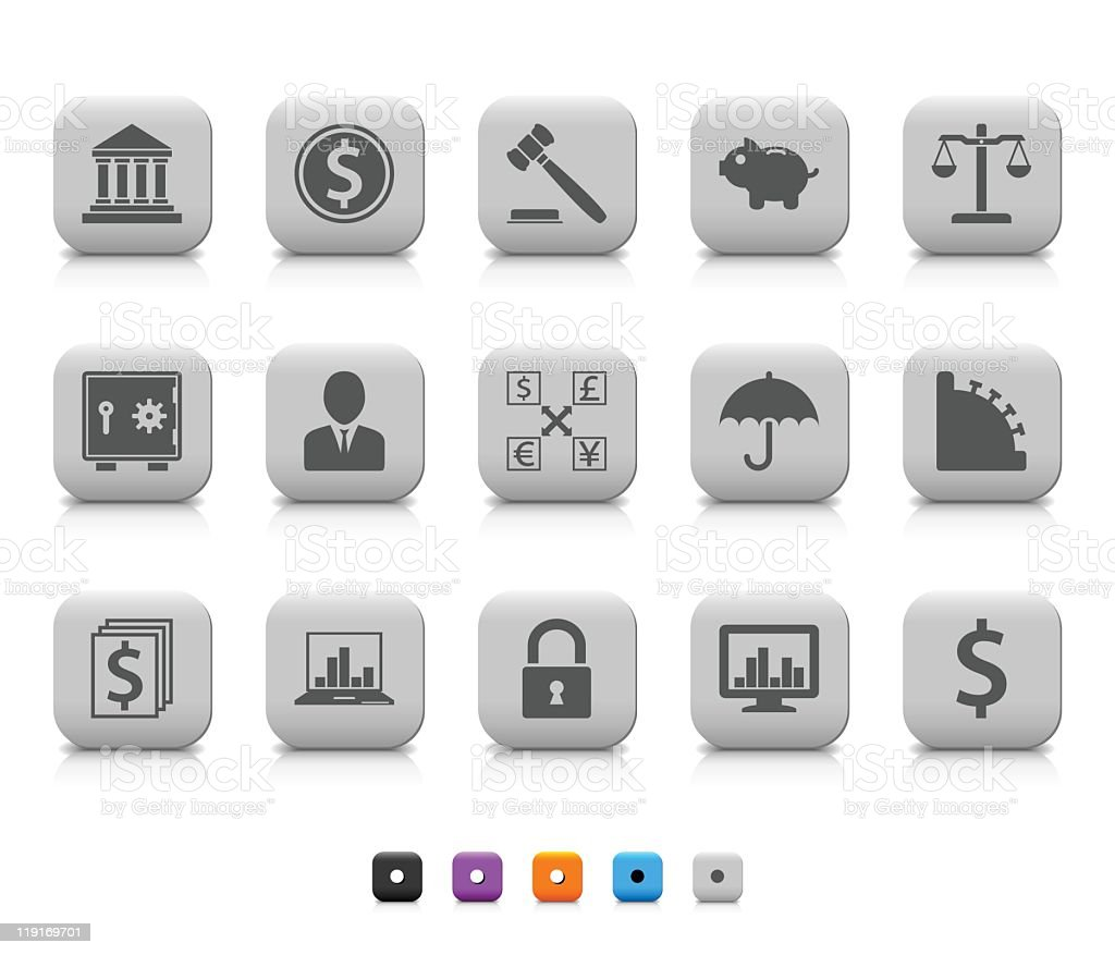 Finance icons royalty-free stock vector art