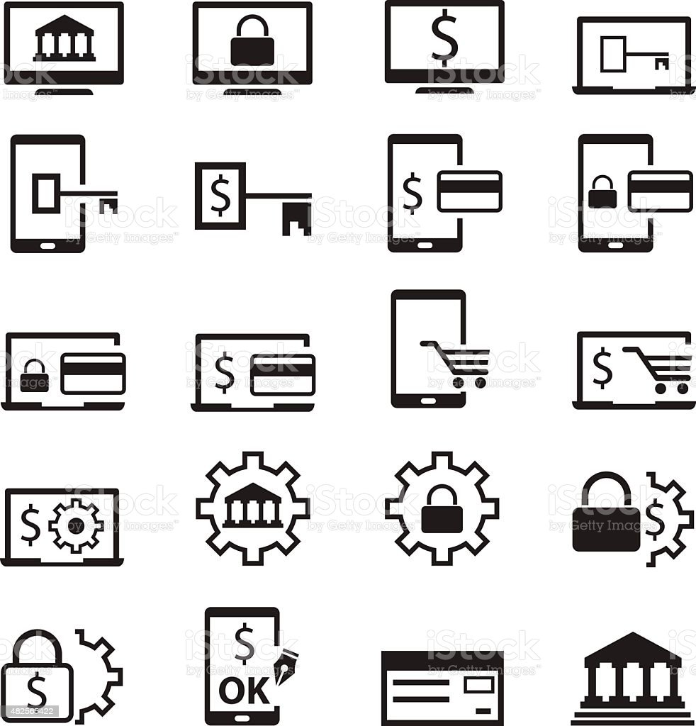 Finance Icons vector art illustration