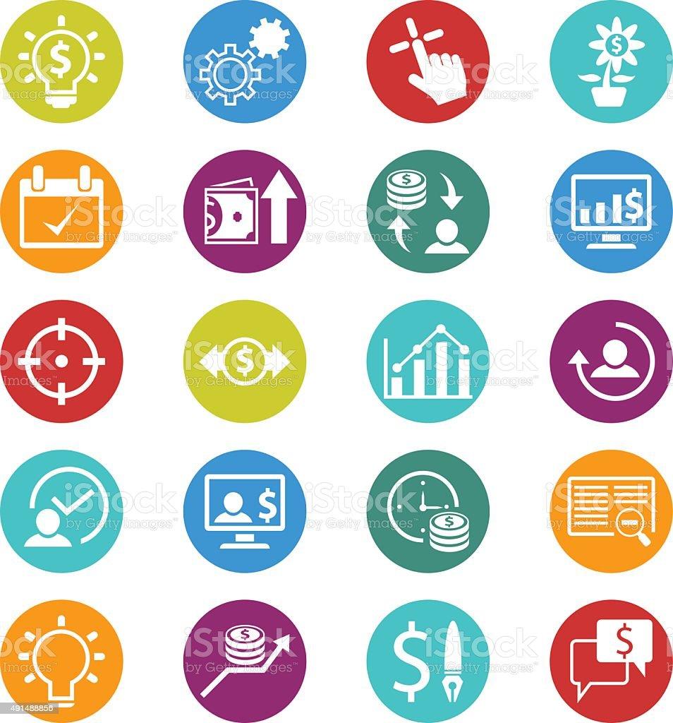 Finance icons vector art illustration