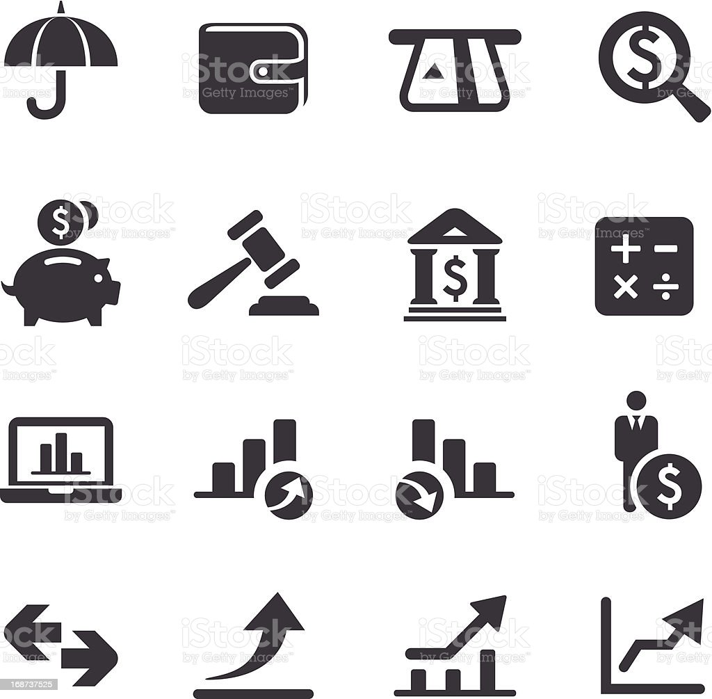 Finance Icons-Acme Series vector art illustration