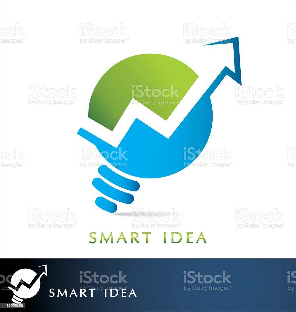 Finance idea logo vector vector art illustration