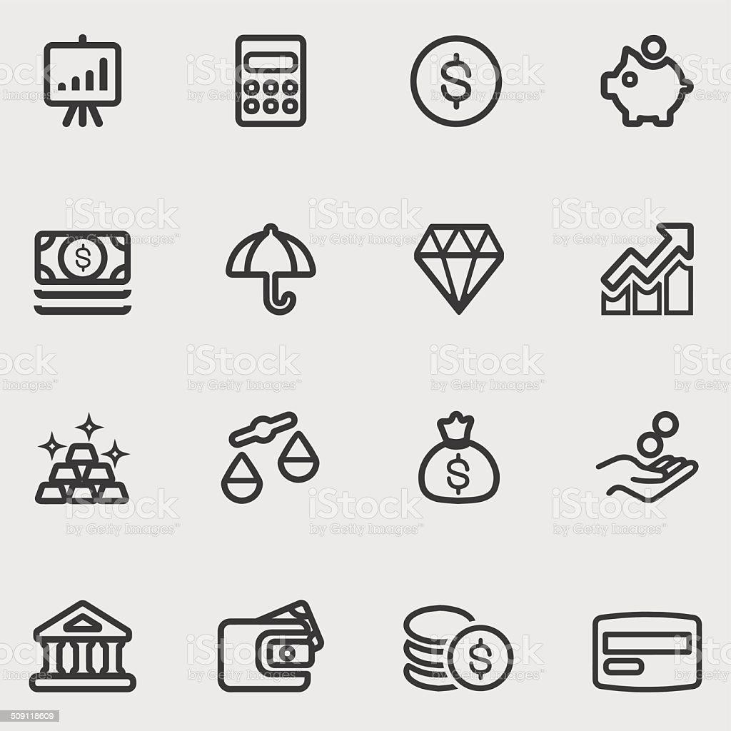 Finance Line icons | EPS10 vector art illustration