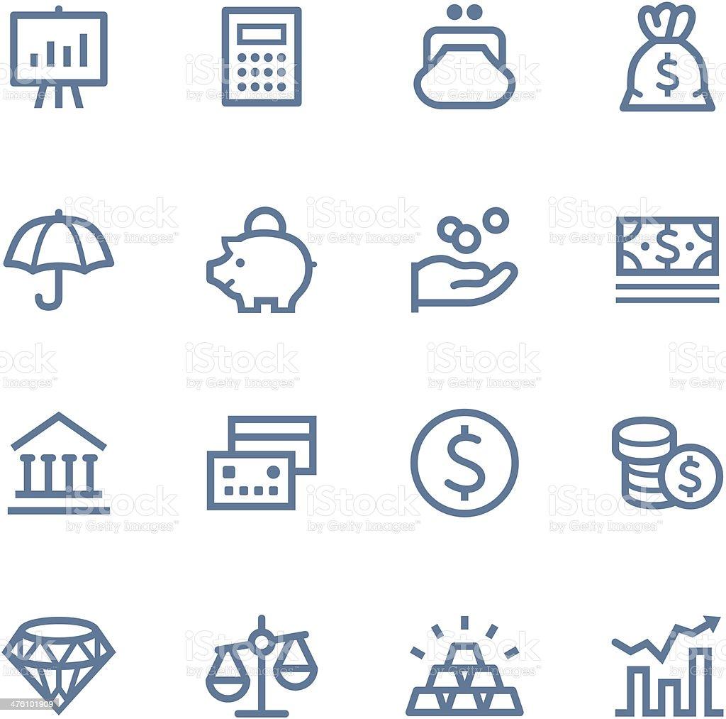 Finance Line icons vector art illustration