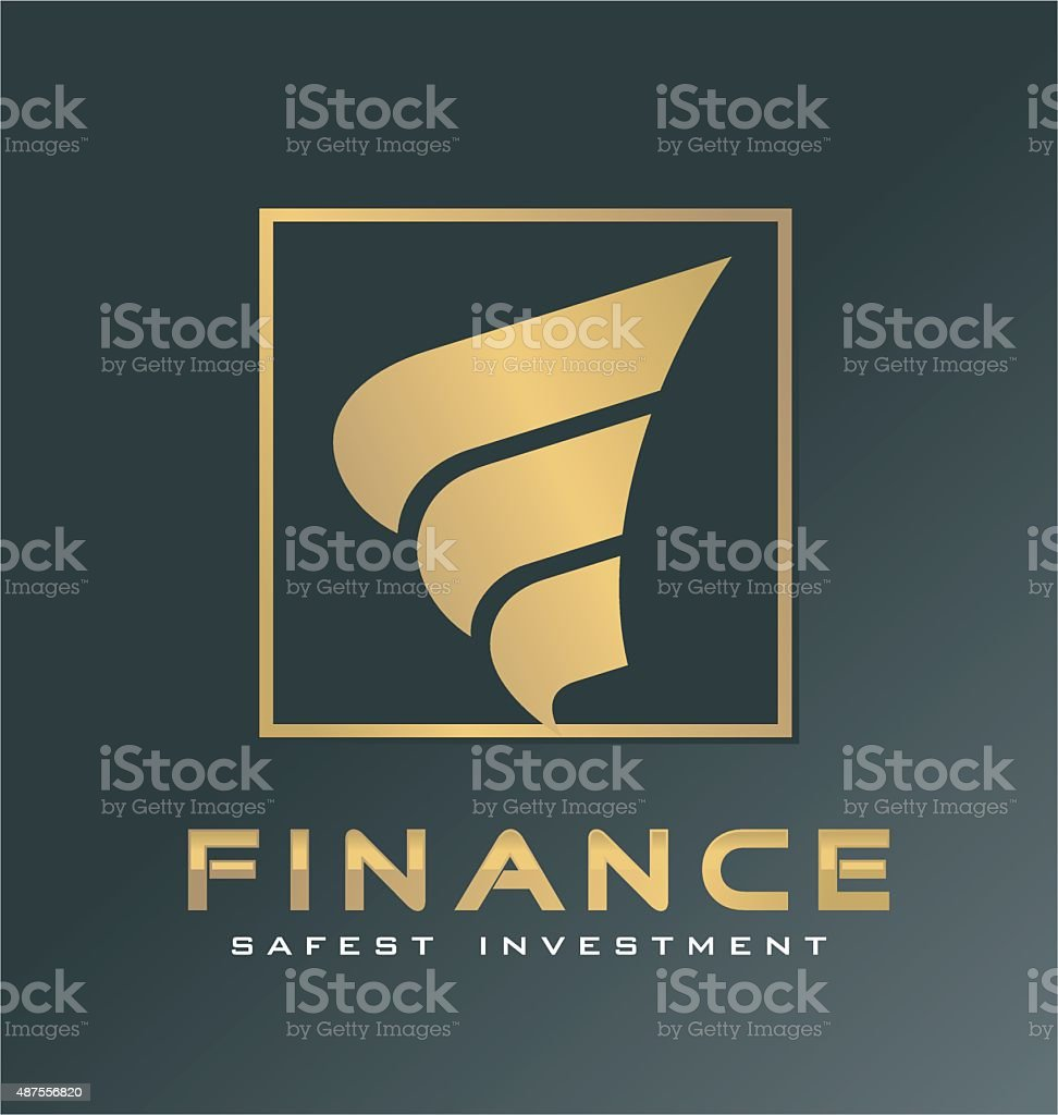 Finance logo symbol vector art illustration