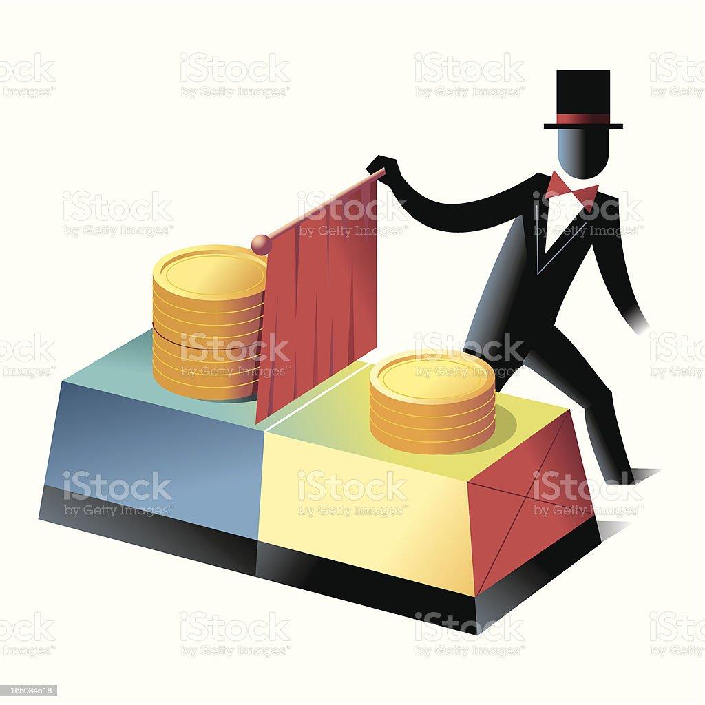 Finance Magic royalty-free stock vector art