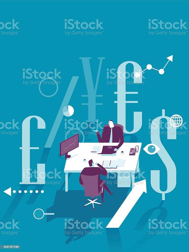 Finance management vector art illustration