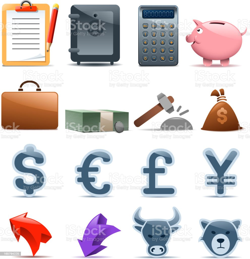 finance materials royalty-free stock vector art