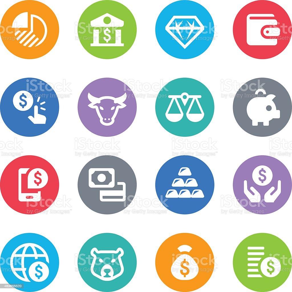 Finance & Money Icons - Circle Illustrations vector art illustration
