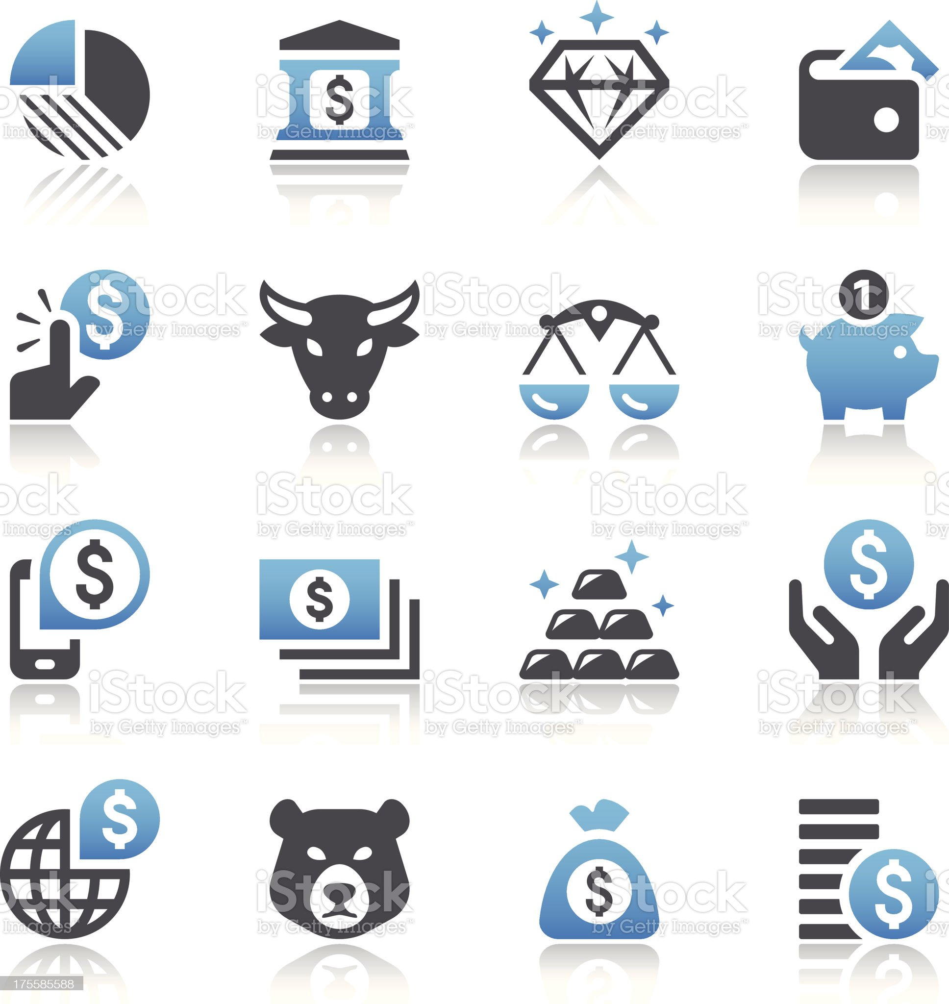 Finance & Money Icons royalty-free stock vector art