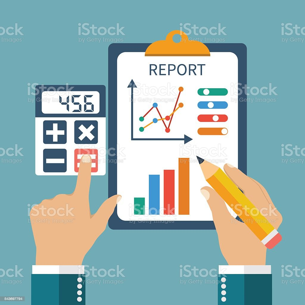 Finance report vector art illustration