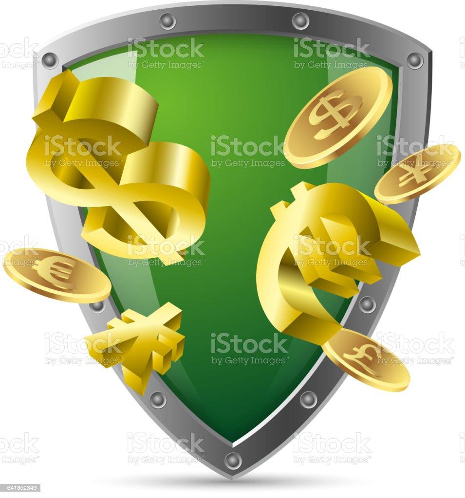 Finance security vector art illustration