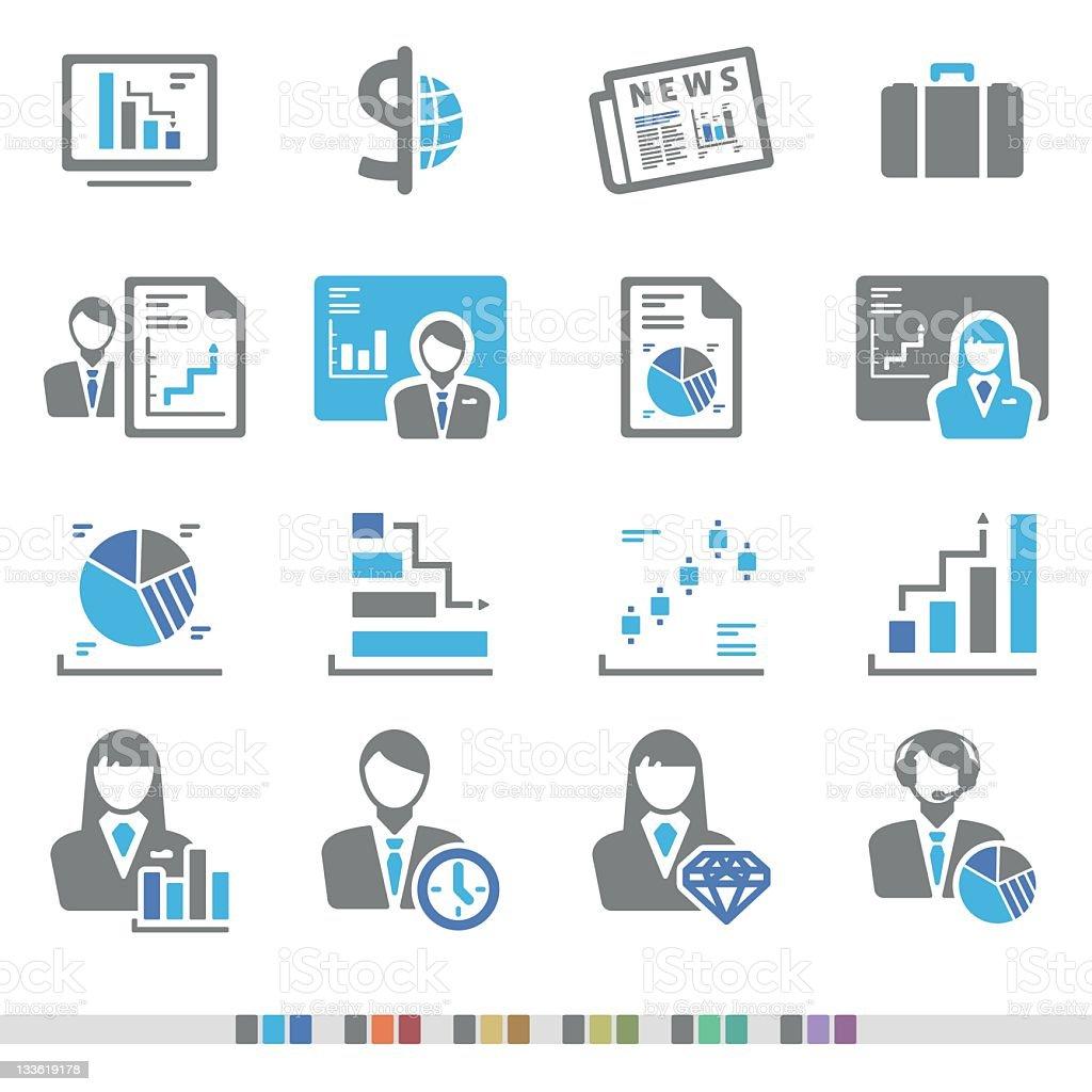 Finance & Stock Market | Chromatic Icons royalty-free stock vector art